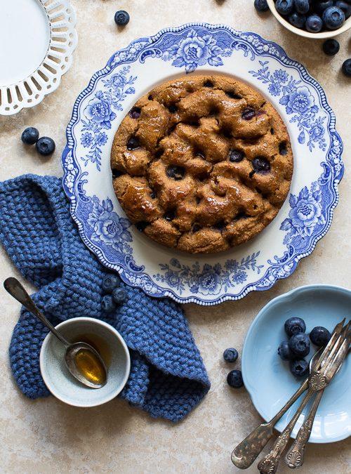 Blueberry, Lemon, Almond & Polenta Butter Bean Cake
