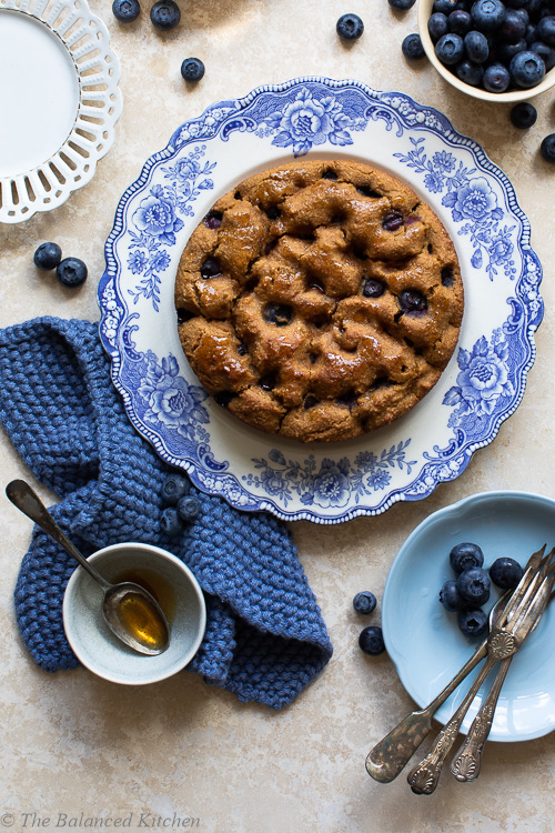 Blueberry, Lemon, Almond & Polenta Butter Bean Cake