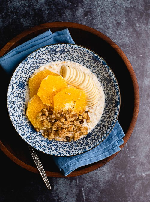 Fermented Oats with Live Yoghurt, Orange & Banana