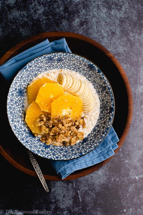 Fermented Oats with Live Yoghurt, Orange & Banana