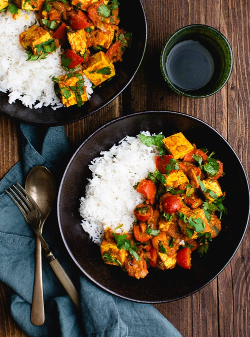 Tomato & Tofu One-pot Curry in a Hurry!