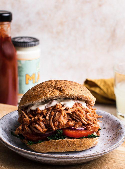 Pulled BBQ Jackfruit Burger – Plant Based, Vegan Burger