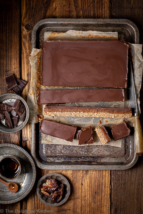 Delectable Chocolate Almond Date Slices