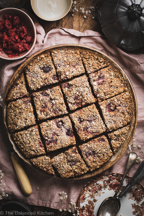 Raspberry Breakfast Bake with a crunchy Streusel Topping